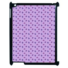 Pattern Background Violet Flowers Apple Ipad 2 Case (black) by Nexatart