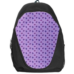 Pattern Background Violet Flowers Backpack Bag by Nexatart