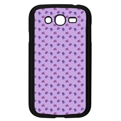 Pattern Background Violet Flowers Samsung Galaxy Grand Duos I9082 Case (black) by Nexatart