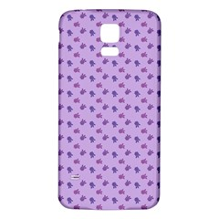 Pattern Background Violet Flowers Samsung Galaxy S5 Back Case (white) by Nexatart