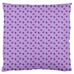 Pattern Background Violet Flowers Large Flano Cushion Case (two Sides) by Nexatart