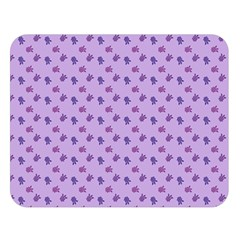 Pattern Background Violet Flowers Double Sided Flano Blanket (large)