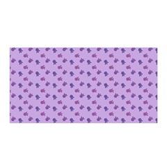 Pattern Background Violet Flowers Satin Wrap by Nexatart