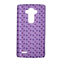 Pattern Background Violet Flowers Lg G4 Hardshell Case by Nexatart