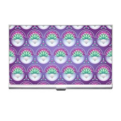 Background Floral Pattern Purple Business Card Holders by Nexatart