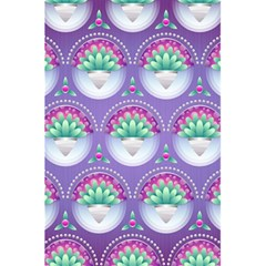 Background Floral Pattern Purple 5 5  X 8 5  Notebooks by Nexatart