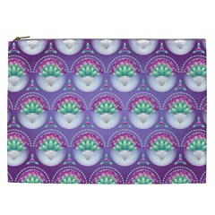 Background Floral Pattern Purple Cosmetic Bag (xxl)  by Nexatart