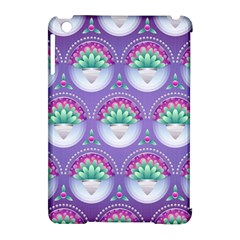 Background Floral Pattern Purple Apple Ipad Mini Hardshell Case (compatible With Smart Cover) by Nexatart