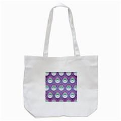 Background Floral Pattern Purple Tote Bag (white) by Nexatart