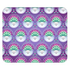 Background Floral Pattern Purple Double Sided Flano Blanket (small)  by Nexatart