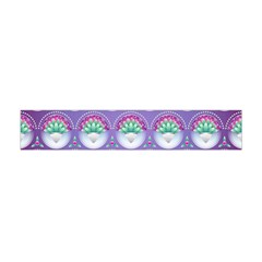 Background Floral Pattern Purple Flano Scarf (mini)