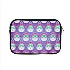 Background Floral Pattern Purple Apple Macbook Pro 15  Zipper Case by Nexatart