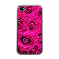 Pink Roses Roses Background Apple Iphone 4 Case (clear) by Nexatart