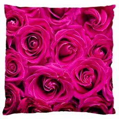 Pink Roses Roses Background Large Cushion Case (two Sides) by Nexatart