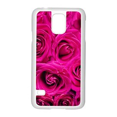 Pink Roses Roses Background Samsung Galaxy S5 Case (white) by Nexatart