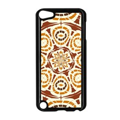 Brown And Tan Abstract Apple Ipod Touch 5 Case (black) by linceazul