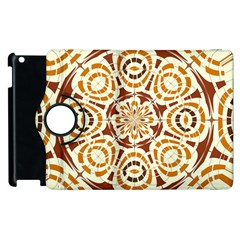 Brown And Tan Abstract Apple Ipad 3/4 Flip 360 Case by linceazul