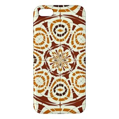 Brown And Tan Abstract Apple Iphone 5 Premium Hardshell Case by linceazul