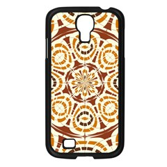 Brown And Tan Abstract Samsung Galaxy S4 I9500/ I9505 Case (black) by linceazul