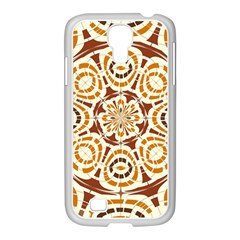 Brown And Tan Abstract Samsung Galaxy S4 I9500/ I9505 Case (white) by linceazul