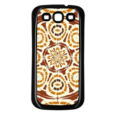 Brown And Tan Abstract Samsung Galaxy S3 Back Case (black) by linceazul