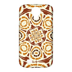 Brown And Tan Abstract Samsung Galaxy S4 Classic Hardshell Case (pc+silicone) by linceazul
