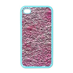 Leaves Pink Background Texture Apple Iphone 4 Case (color) by Nexatart