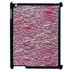 Leaves Pink Background Texture Apple Ipad 2 Case (black) by Nexatart