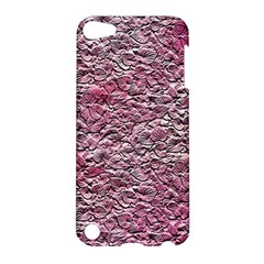 Leaves Pink Background Texture Apple Ipod Touch 5 Hardshell Case by Nexatart