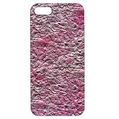 Leaves Pink Background Texture Apple Iphone 5 Hardshell Case With Stand by Nexatart