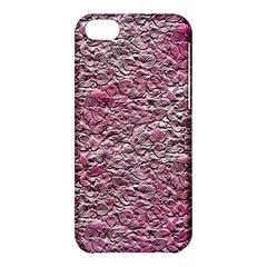 Leaves Pink Background Texture Apple Iphone 5c Hardshell Case by Nexatart