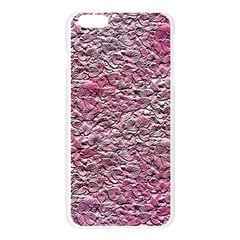Leaves Pink Background Texture Apple Seamless iPhone 6 Plus/6S Plus Case (Transparent)