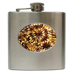 Mussels Lamp Star Pattern Hip Flask (6 Oz) by Nexatart