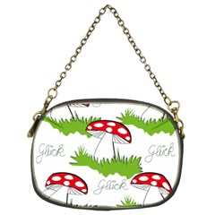 Mushroom Luck Fly Agaric Lucky Guy Chain Purses (two Sides)  by Nexatart