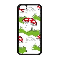 Mushroom Luck Fly Agaric Lucky Guy Apple Iphone 5c Seamless Case (black) by Nexatart