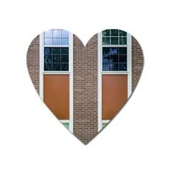 Pattern Symmetry Line Windows Heart Magnet by Nexatart