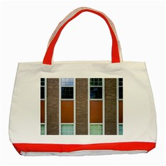 Pattern Symmetry Line Windows Classic Tote Bag (red) by Nexatart