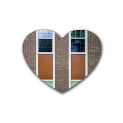 Pattern Symmetry Line Windows Rubber Coaster (heart)  by Nexatart