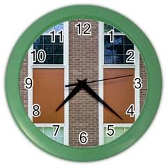 Pattern Symmetry Line Windows Color Wall Clocks by Nexatart