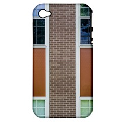 Pattern Symmetry Line Windows Apple Iphone 4/4s Hardshell Case (pc+silicone) by Nexatart