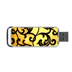 Texture Pattern Beautiful Bright Portable Usb Flash (one Side) by Nexatart