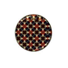 Kaleidoscope Image Background Hat Clip Ball Marker (4 Pack) by Nexatart