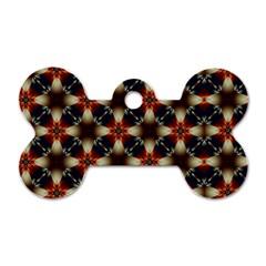 Kaleidoscope Image Background Dog Tag Bone (two Sides) by Nexatart