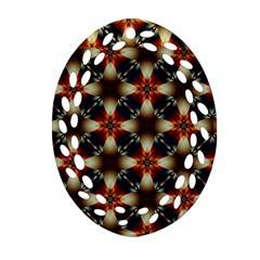 Kaleidoscope Image Background Ornament (oval Filigree) by Nexatart