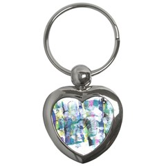 Background Color Circle Pattern Key Chains (heart)  by Nexatart
