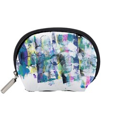 Background Color Circle Pattern Accessory Pouches (small)  by Nexatart