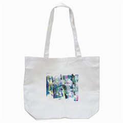 Background Color Circle Pattern Tote Bag (white) by Nexatart
