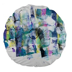 Background Color Circle Pattern Large 18  Premium Flano Round Cushions by Nexatart