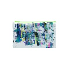 Background Color Circle Pattern Cosmetic Bag (xs) by Nexatart