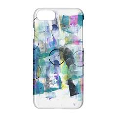 Background Color Circle Pattern Apple Iphone 7 Hardshell Case